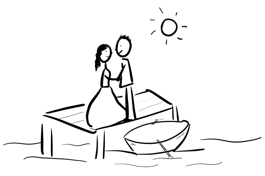 Huwelijksbootje G&D